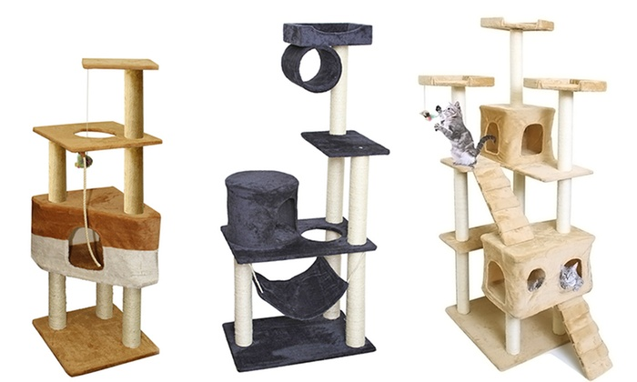 Genial Cat Tree Condo Furniture With Scratch Posts ...