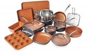 Gotham Steel Nonstick Ti-Cerama Cookware and Bakeware Set (20-Piece)