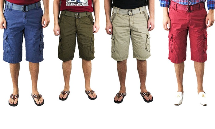 X-RAY JEANS Men's Casual Cargo Shorts