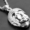 Men's Stainless Steel Buddha Pendant Necklace