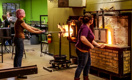 Glass-Flower or Garden-Globe Spring Glass-Blowing Workshop for Two at The Glass Asylum (Up to 46% Off)