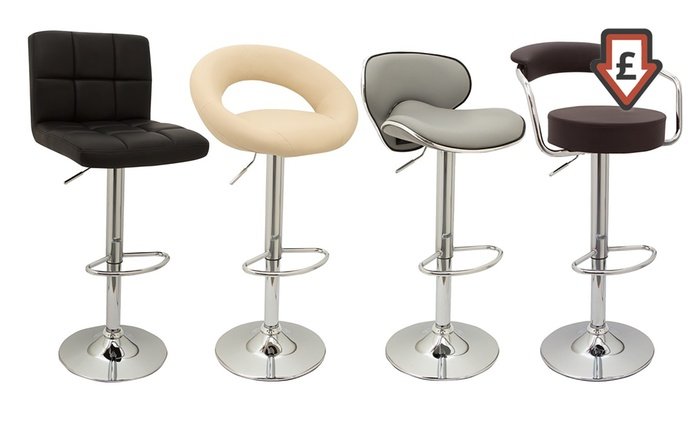 Bar Stools In Choice of Colour and Design: Two (£49.99) or Four (£94.99) With Free Delivery (Up to 53% Off)