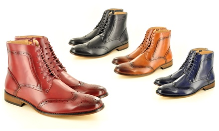 Men's Ankle Brogue Boots