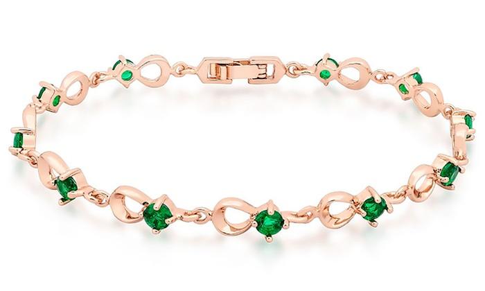 Bracciale con 11 smeraldi