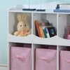 Open Cube Storage Cabinet with Fabric Bins
