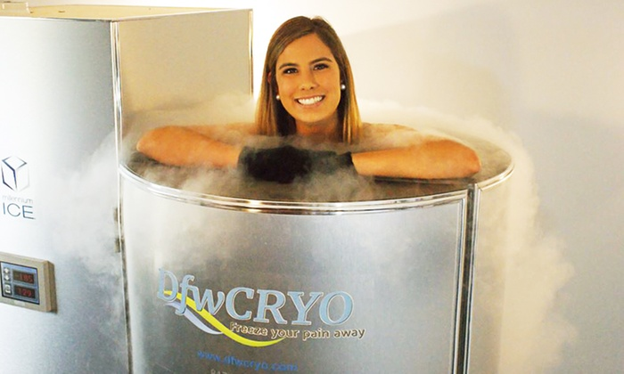 DFW CRYO - City View: Three or Five Cryotherapy Sessions at DFW Cryo (Up to 70% Off)