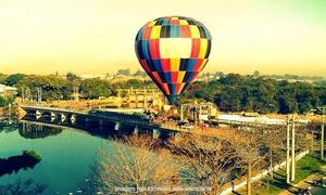 Brasil Balonismo: Brasil Balonismo – Boituva: voo de instrução de balão com certificado e 1 taça de champanhe para 1 ou 2 pessoas