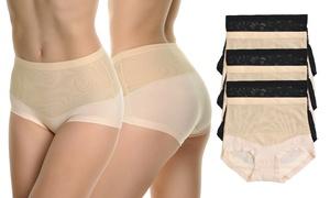 Angelina Women's Slimming High-Waist Cotton Briefs (6-Pack)