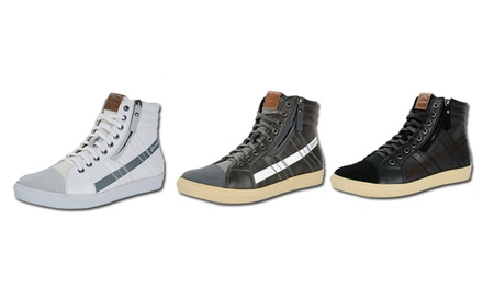 Alpine Swiss Men's Retro High-Top Sneakers