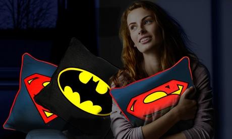 Batman or Superman Glow Cushion or Both