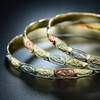 18K Gold Plated St. Guadalupe Engraved Bangle Set (3-Piece)