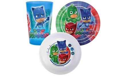 Set de vajilla infantil PJ Masks de 3 piezas