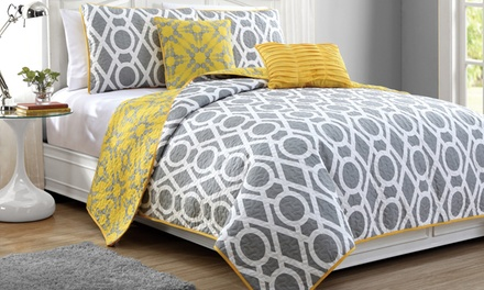 East Side 5-Piece Reversible-Quilt Sets