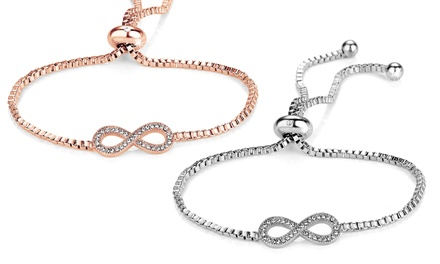 Infinity Friendship Bracelet Made with Crystals from Swarovski®