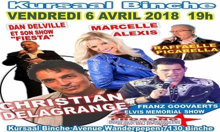 Place en carré or, Grand concert de 5 artistes le 6/04 ou pour dîner spectacle le 8/04 dès 29€ à Binche ou Lodelinsart