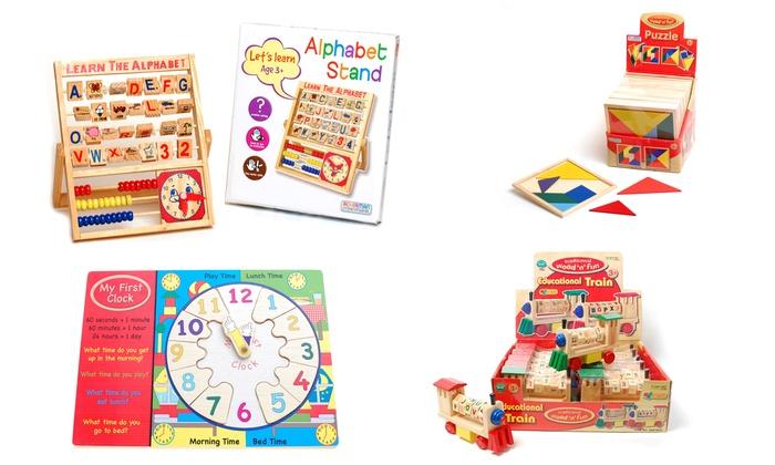 Juegos Educativos De Madera Para Ninos Groupon Goods