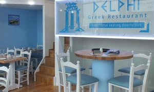 Delphi Restaurant: 20-Dish Mezze Feast with Ouzo for Two, Four or Six at Delphi Restaurant (Up to 57% Off)