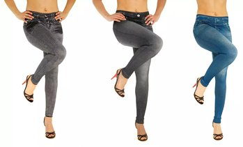 Jeggings con stampa jeans