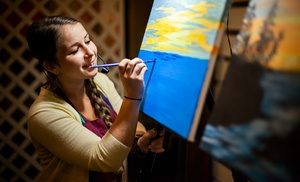 Painting & Vino: One or Two 3-Hour Painting Classes at Painting & Vino (Up to 49% Off)