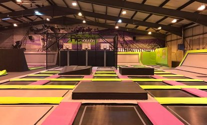 image for One-Hour Trampoline Park Entry for One, Two or Four at Rebound Revolution (35% Off)