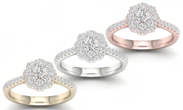 identification-bracelets Size 0.414 cttw Round-Cut-Diamond HallMarked IJ| SI 14K White Gold 10 inches
