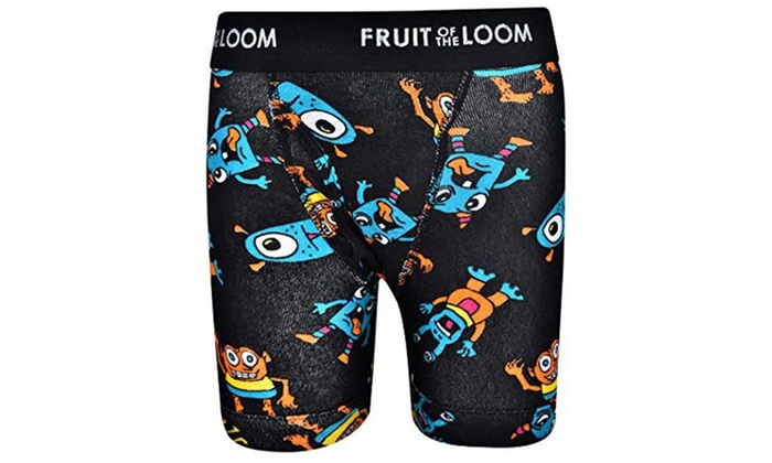 Boys Fruit of The Loom Boxer Shorts-3 Pack