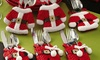 3x oder 6x Weihnachtsmann-Besteckhalter-Set