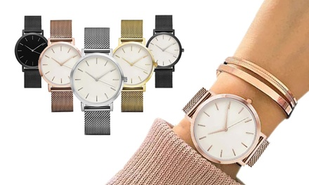 1 ou 2 montres Quartz Maille Milanaise