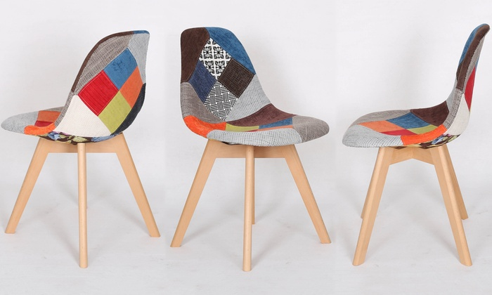 lot chaises scandinaves patchwork - Chaise Scandinave