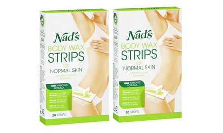 40 Nads Double Sided Body Wax Strips Hair Removal for £4.99