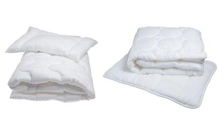 2er-Set Bettwäsche für Babys in Weiß, 100 x 135 cm