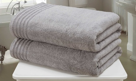 Two or FourPiece Rapport Home So Soft ZeroTwist Bath Sheets Set