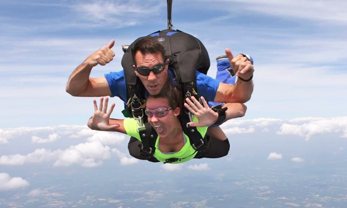 Triangle Skydiving Center - Harris: Tandem Skydiving for One or Two from Triangle Skydiving Center (Up to $163 Off)