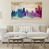 """20""""x36"""" Watercolor City Art on Canvas"""