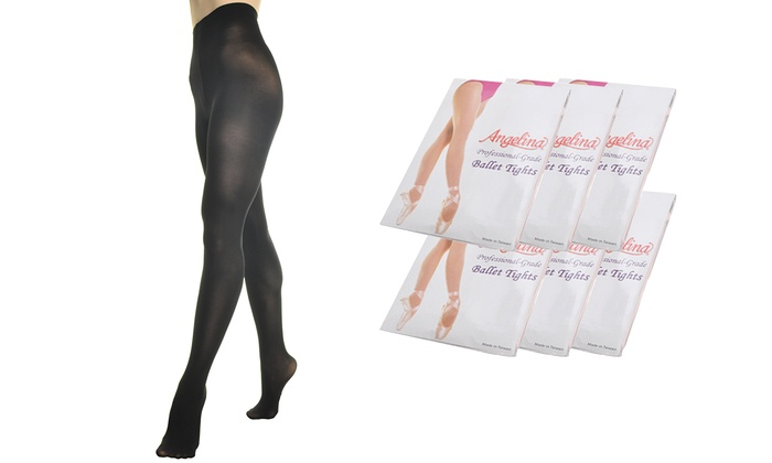 1d980ef2f7baa Up To 79% Off on Girls' Ballet Tights (6-Pack) | Groupon Goods