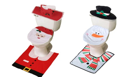Christmas Toilet Decoration Set (Shipping Included)