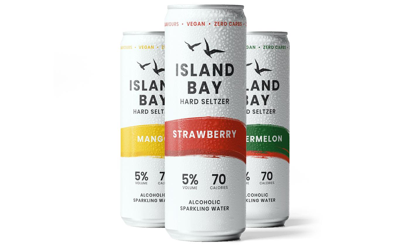 24-Pack of Island Bay Hard Seltzer 5% ABV 250ml With Free Delivery