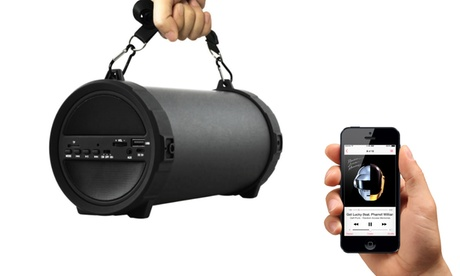 Image of 1 o 2 soundbar bluetooth da esterno con super subwoofer HiFi disponibile con o senza micro-SD