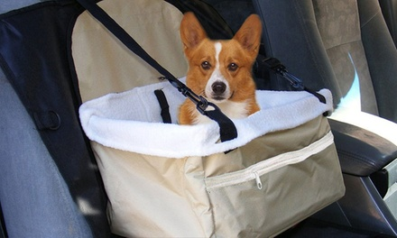 Plush Pet Car Booster Seat Carrier: One $15 or Two $25