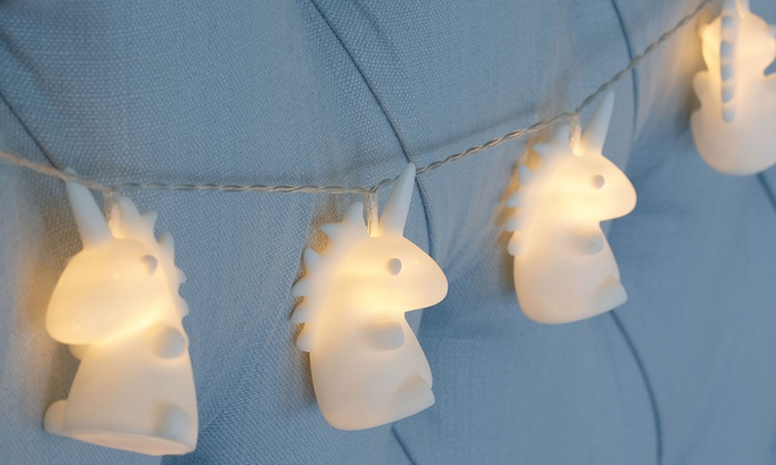 jusqu 39 45 guirlande lumineuse licorne groupon. Black Bedroom Furniture Sets. Home Design Ideas