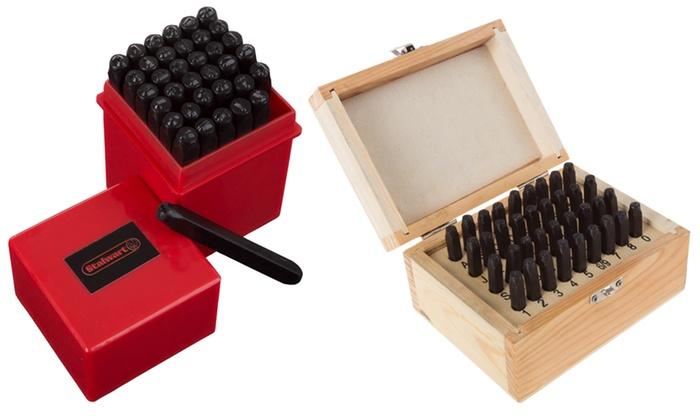 Stalwart Steel Punch Set with Storage Case (36-Piece)