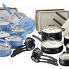 Paula Deen Savannah Aluminum 17-Piece Cookware Set with Bakeware