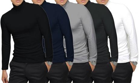 Pack de 5 camisetas de cuello alto para hombre