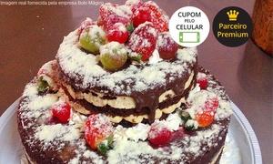Bolo Mágico: Bolo Mágico – Baú: kit festa com bolo, cupcakes e docinhos para 20 ou 40 pessoas – parcele sem juros