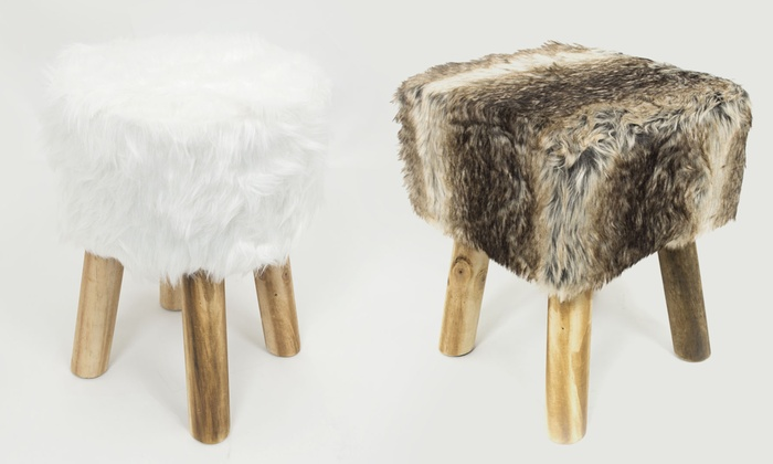 Sgabello pecorella e visonato groupon goods