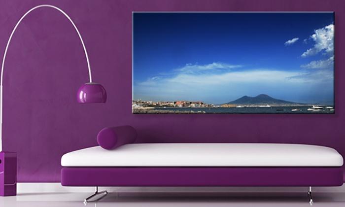 Buono sconto del 70% su acquisto di tela personalizzabile disponibile in vari formati offerto da FotoMox