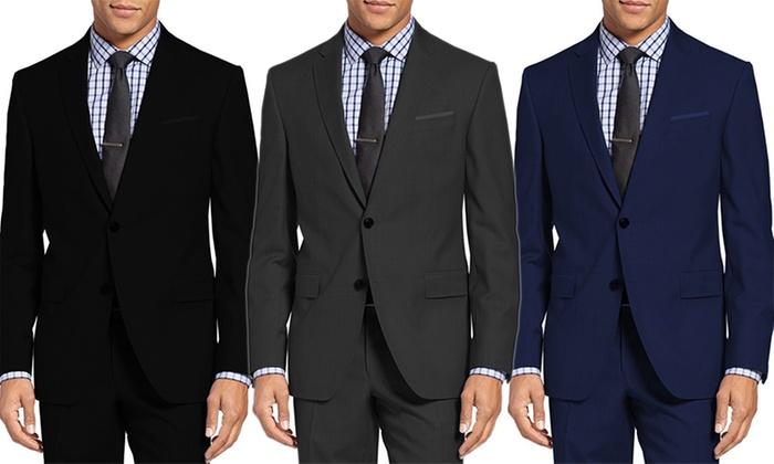 Men's Slim-Fit Suits (2-Piece) | Groupon Goods