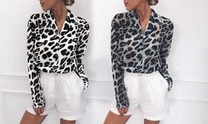 (Mode)  Chemise femme col V léopard -61% réduction