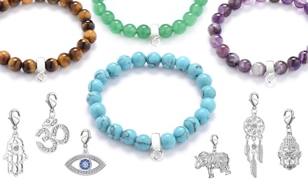 Philip Jones Gemstone Charm Bracelet