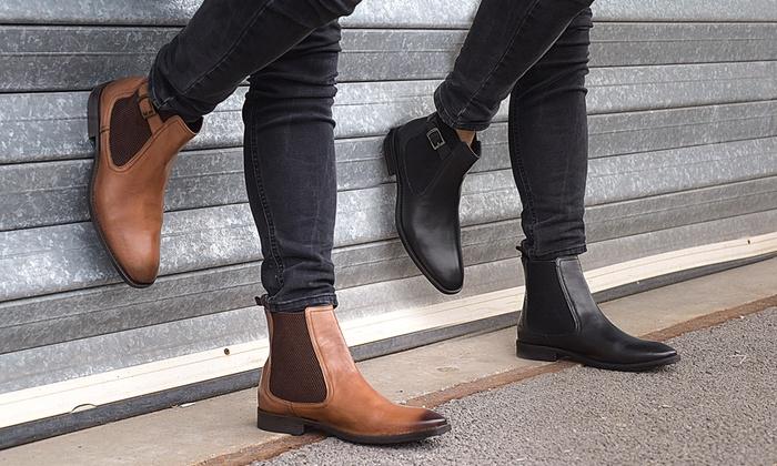 Bis Zu 69 Rabatt Redfoot Chelsea Boots Aus Leder Groupon